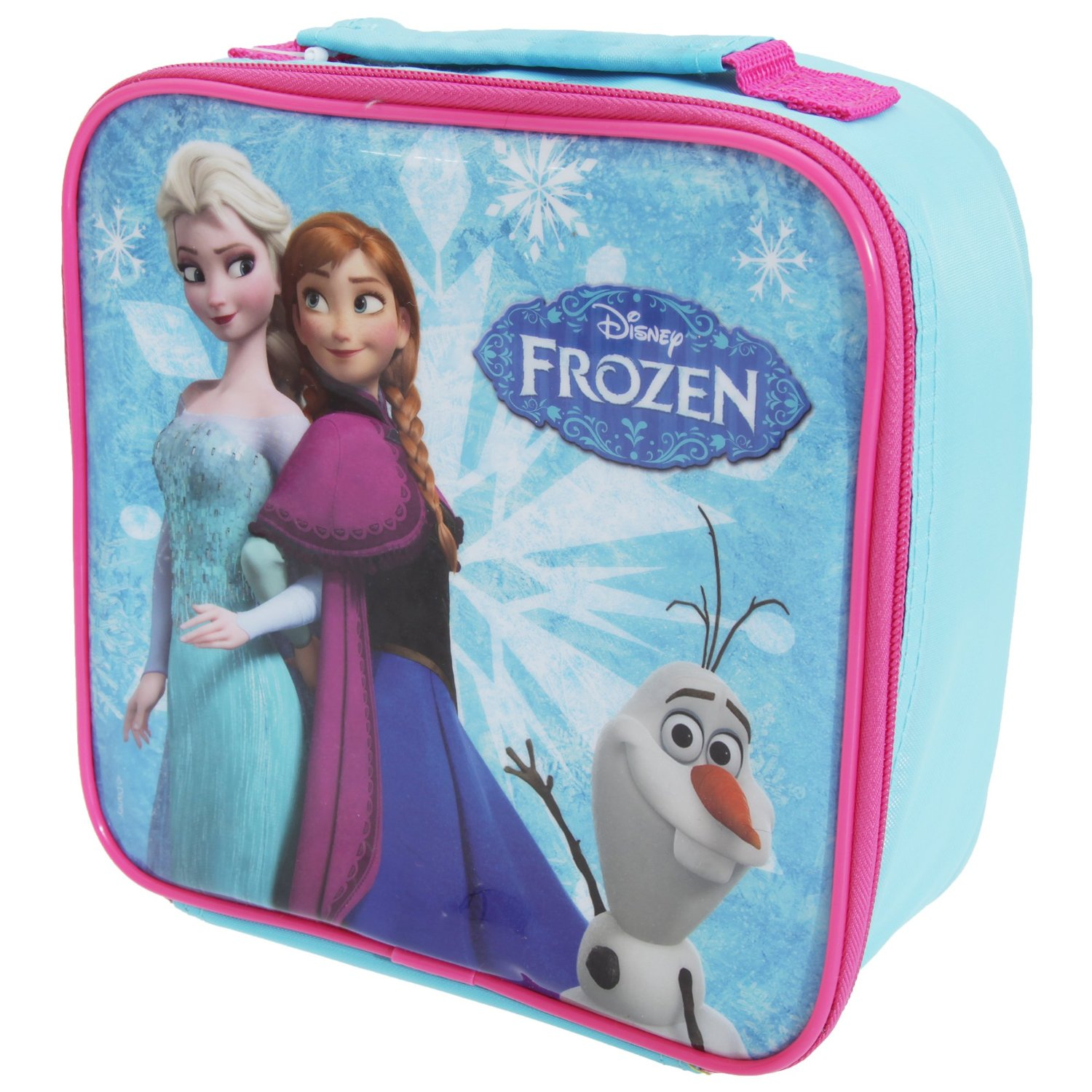 Disney Frozen Childrens Girls Official Insulated Lunch Bag Cooler (One Size) (Blue/Fuchsia)