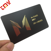 Latest Design Customized Matte Finished Full Color Printing PVC Business Card With Metal Logo Card