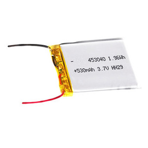 Customized certificate approval 453040 li-polymer lithium battery li-ion 3.7v 550mah lipo battery