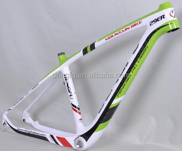 Green And White Carbon Mtb Bike Frame 29er New Mtb Frame 29er Fm056 ...
