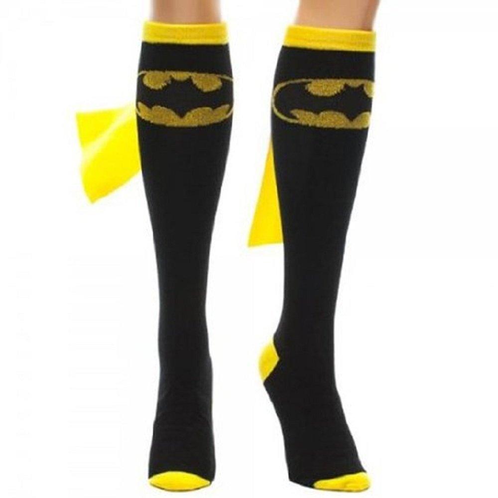 03a218313 Buy Grey Batman Knee High Socks with Shiny Cape Dc Comics Dark ...