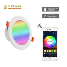 Wifi החכם RGB + CCT מתכוונן <span class=keywords><strong>LED</strong></span> <span class=keywords><strong>Downlight</strong></span> 10 w 3.5 אינץ
