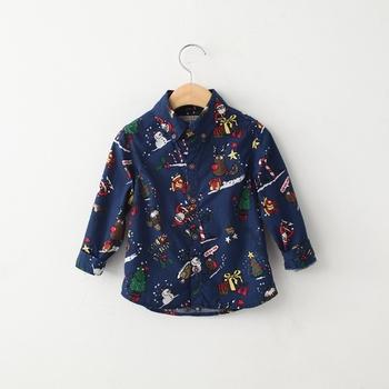 Kerst Overhemd.Kerst Herten Cartoon Ms65623c Lange Mouw Jongen Overhemd Buy
