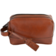 High Quality Heritage Range Travel Washing Bag Carrying Handle Leather Mens Wash Bag