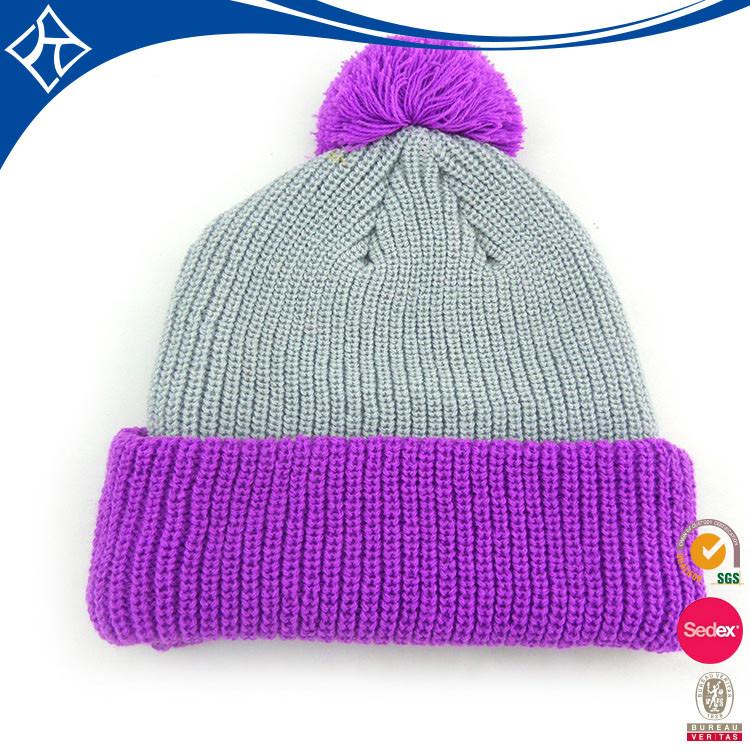 Custom Top Ball Beanie Knitting Hat,Cc Winter Beanie Hat Design ...