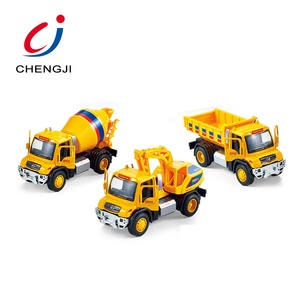 Wholesale metal alloy simulation engineering car model diecast toy trucks