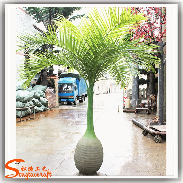 Life size and life shape artificial decorative palm tree for sale fake plastic artificial palm tree for garden
