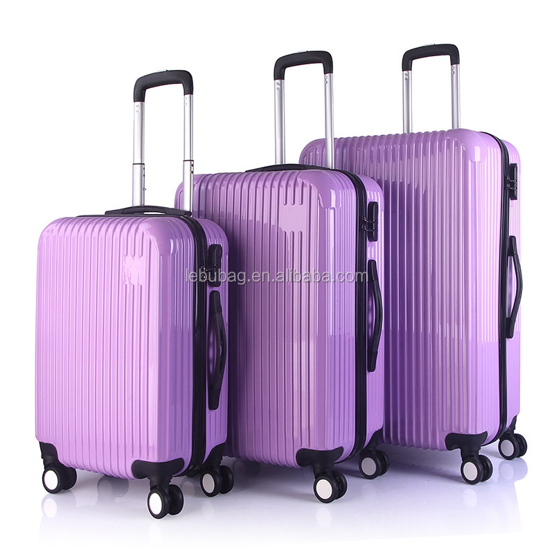 Fancy Striped Type PC Hard Shell Hand Carry-on Suitcase 20/24/28 Inches Trolley Luggage Case 3 Pieces Set Cabin Case