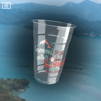 R280-A PLA 9oz 280ml coffee juice beverage transparent customize drinkware plastic cup with lids