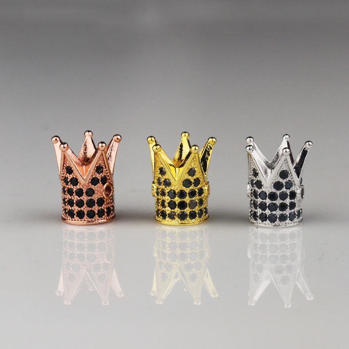 Hiphop sieraden novel ontwerp DIY vergulde ronde kralen, custom gegraveerde metalen logo kralen