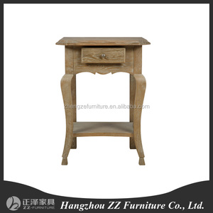 country style solid wood drawer bedside table