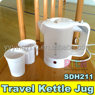 2 CUPS ELECTRIC KETTLE 0.5L (Half liter) Stainless steel plate concealed heating element