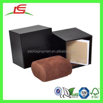 J737 Disesuaikan Hadiah Pembungkus Kotak Kardus untuk Jam Tangan dengan  Bantal 5d8d9f4315