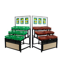 High quality fruit and vegetable display rack stand for supermarket equipment