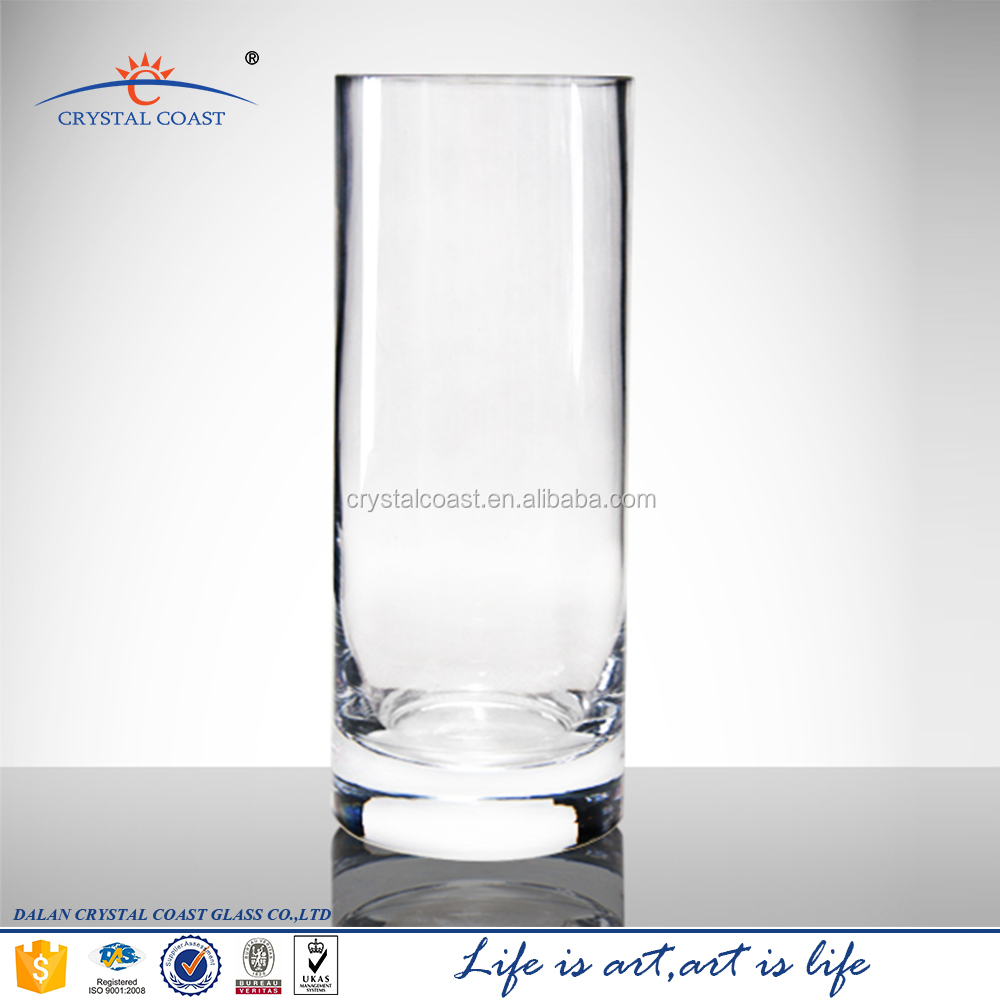 Tall Cylinder Clear Glass Vase For Wedding Centerpiecesclear Vase