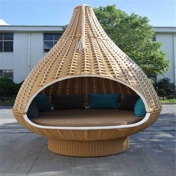 Bird Nest Shaped Garden Rattan Hanging Bed