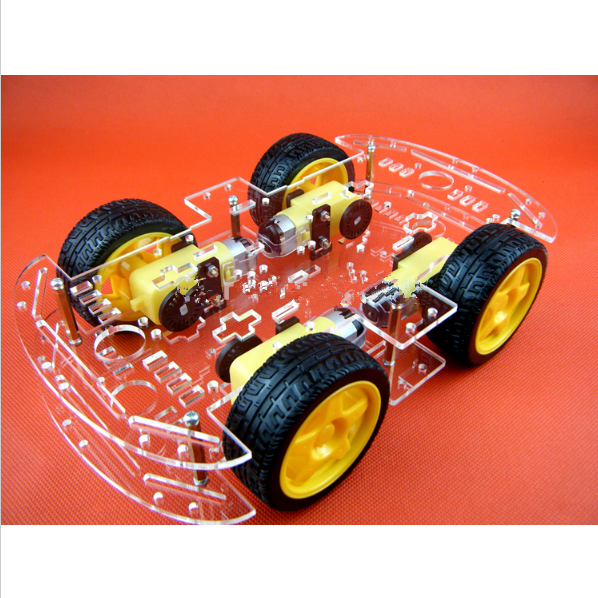 Smart Electronics Smart Car Chassis For 4wd Avoidance Tracking Motor Smart Robot Car Chassis Kit Active Components Integrated Circuits
