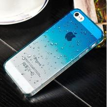 Phone Protective Shell Fresh 3D Raindrops Waterdrop Gradient Cases/Cover For iphone 5 iPhone 5 5S Case For iPhone5 4 4S case