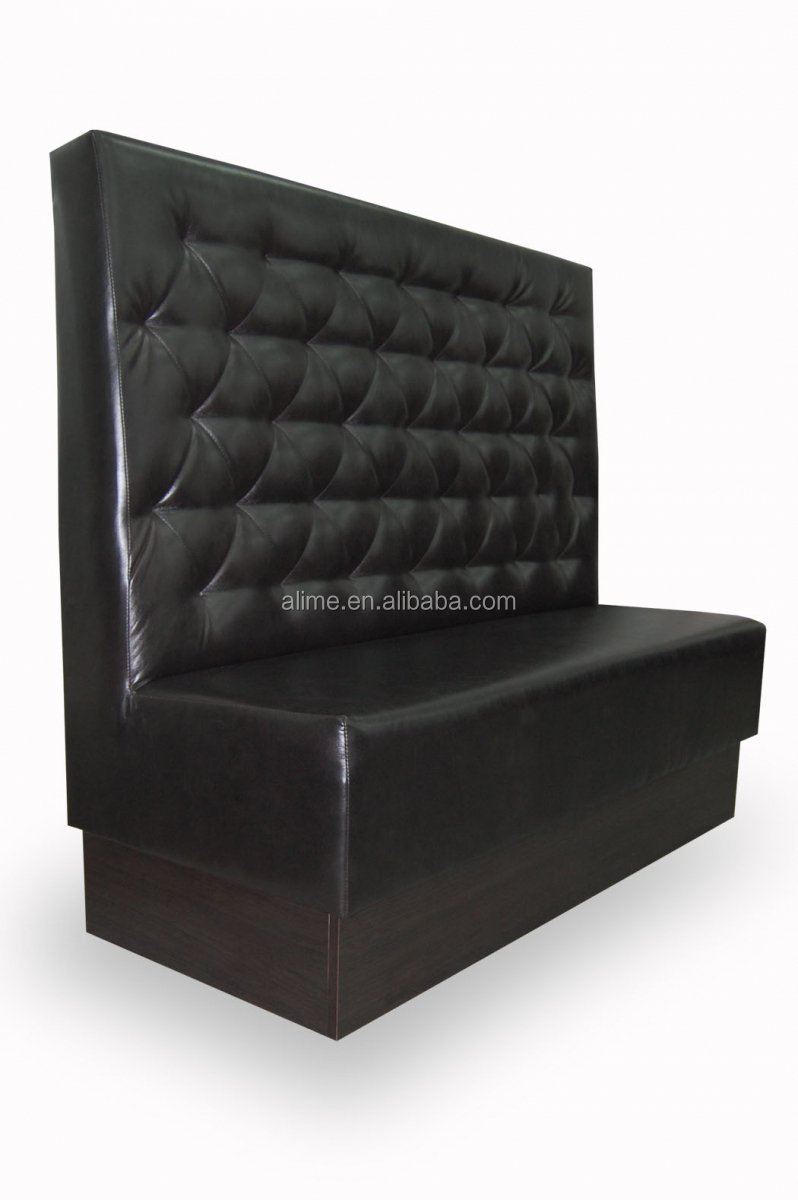 Alime Restaurant Booth Seating Black Leather Bench Seating