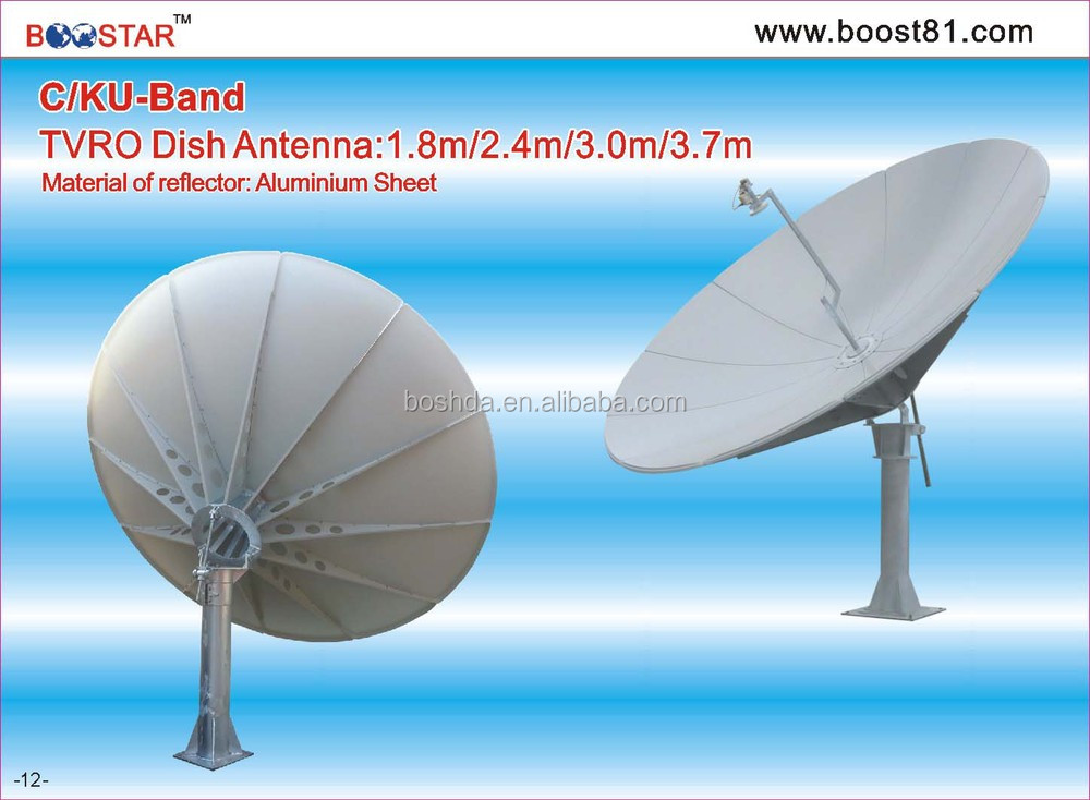 TX/RX 3m satellite dish/tv/wifi/vsat antenna & receiver