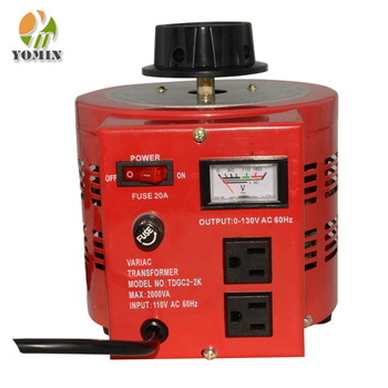 TDGC2 Meter Display 0~250v Variac Variable Transformer With Motor, Single Phase Common Type AC Contact Voltage Regulator