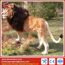 simulation animal model of lion animatronic animal garden statues
