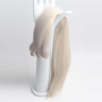 8A Grade 20 inch Double Drawn #1001 color White Platinum blonde Remy Russian Human Hair weft Extension