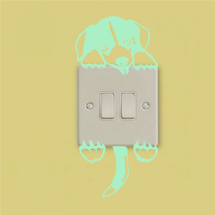 dig shiny switch wall stickers glow in the dark children's room living room waterproof removable computer wall decals