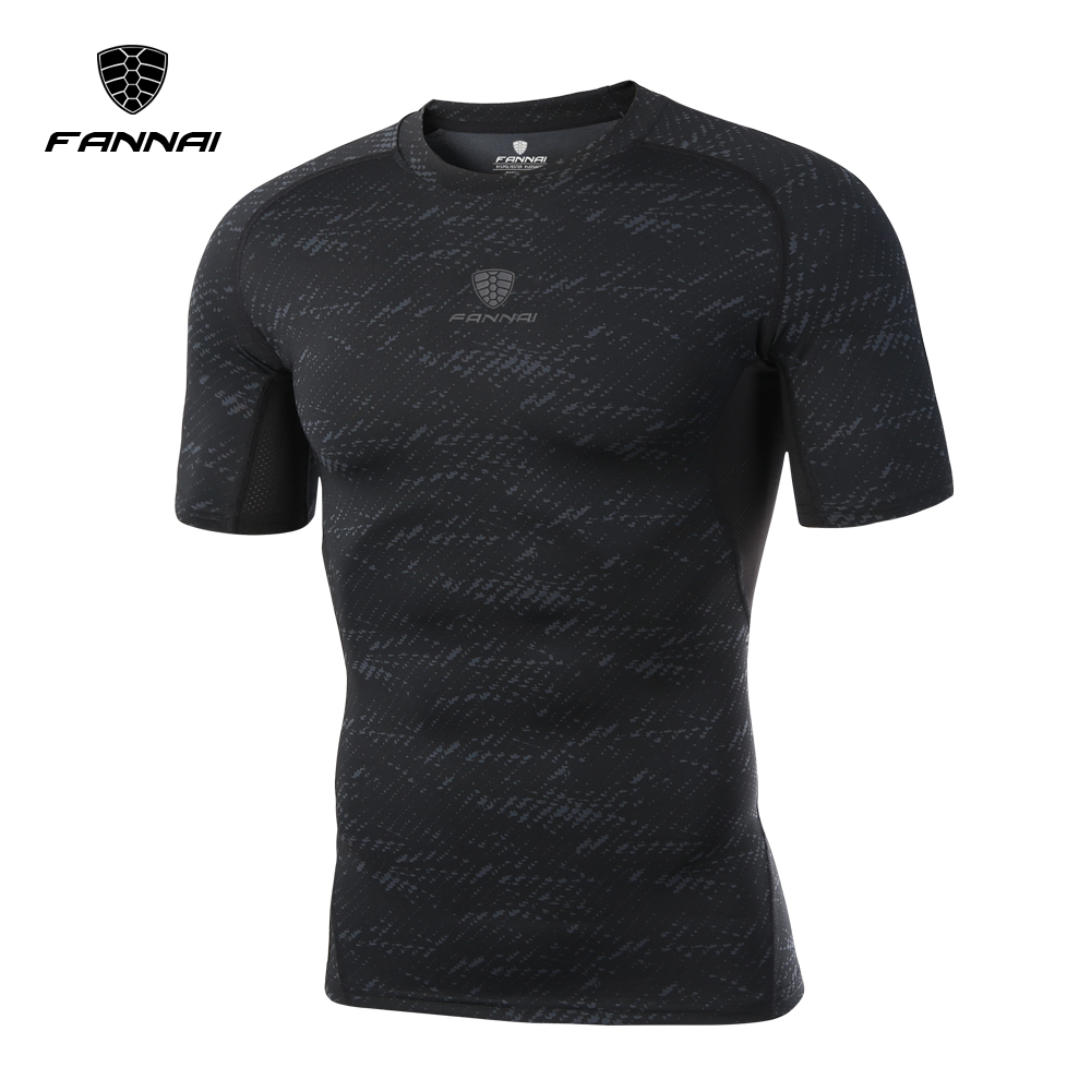 Camouflage Cool Droog Baselayer Sport Fitness Korte Mouwen Compressie Shirt Sneldrogende Compressie Fitness T-shirt