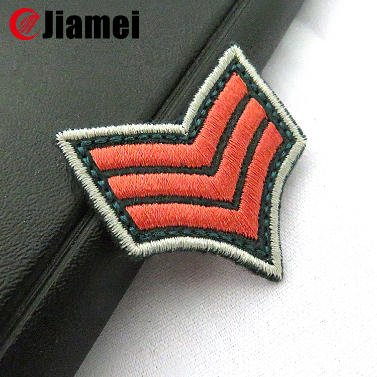 Military use knit fabric embroidery custom uniform chevron