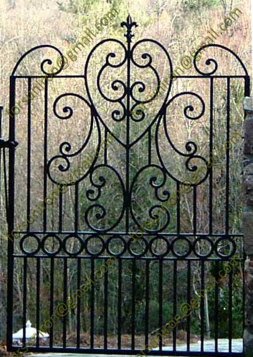 estilo hierro forjado pequeas puertas para jardn