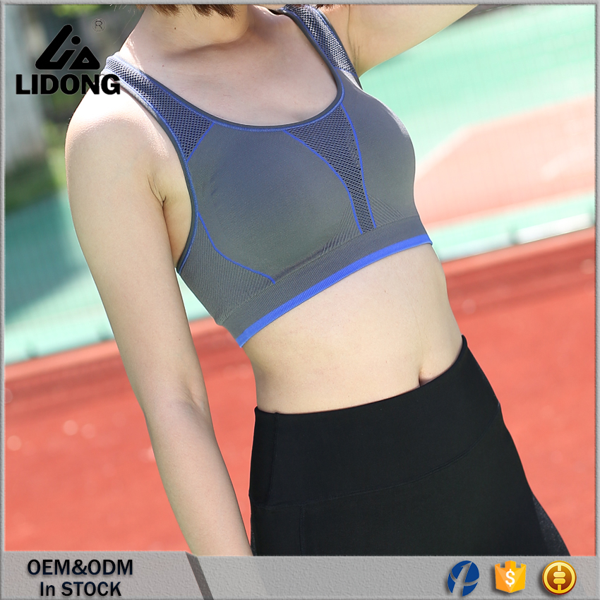 0659f9026b wholesale Gym Athletic wear custom high Elastic ladies yoga sports bra ...
