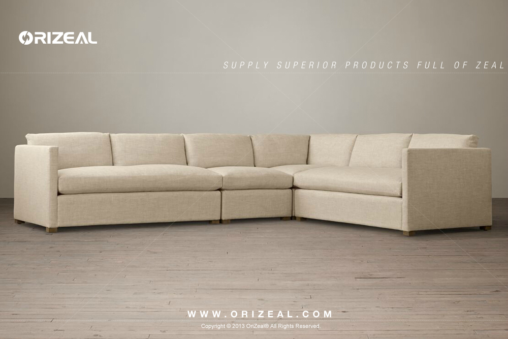 Living room sectional sofa antique sectional sofa design upholstered armless chair (OZ- : antique sectional sofa - Sectionals, Sofas & Couches