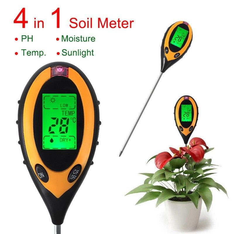 electronic soil ph meter, electronic soil ph tester, field ph meter 4 in 1