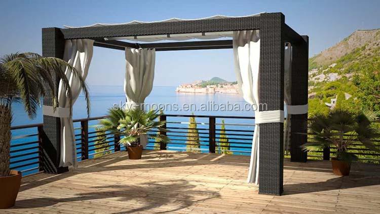 wasserdicht gartenm bel pavillon rattan gazebo pavillon zelt g001 buy product on. Black Bedroom Furniture Sets. Home Design Ideas