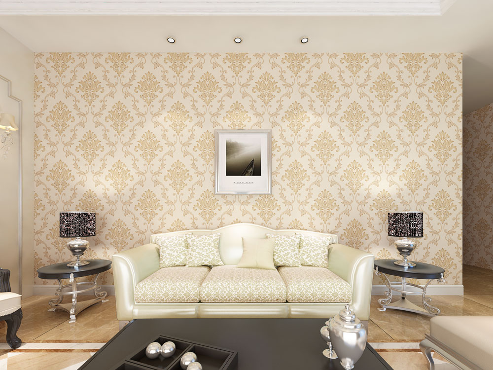 easy Washable Wallpaper Rolls 3D Wallpapers PVC wallcoating/European style