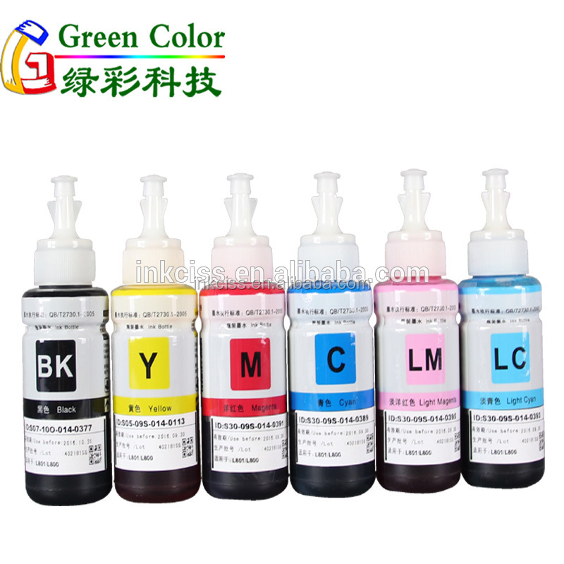 70ml 100ml tinta for T6731-T6736 for EPSON L1800 L800 805 printer refill dye ink