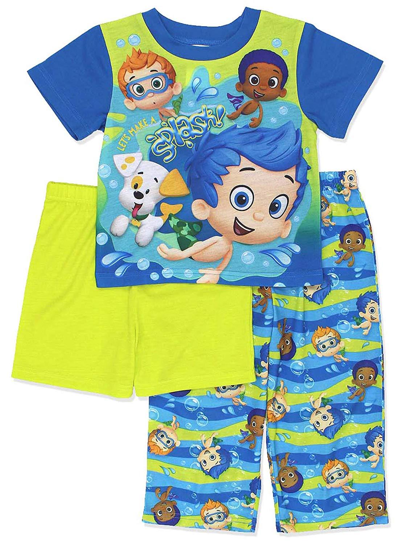 e241a0f8cee Get Quotations · Bubble Guppies Toddler Boys 3 piece Shorts Pajamas Set
