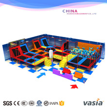 Huaxia Professional Kids Adventure Amusement Games Indoor Trampoline With Safety Net