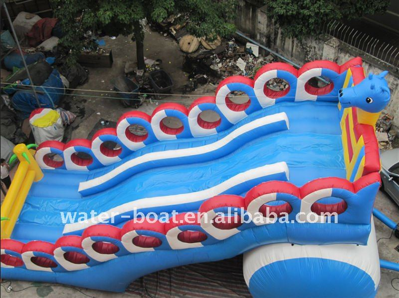 large inflatable dragon slide game on sale
