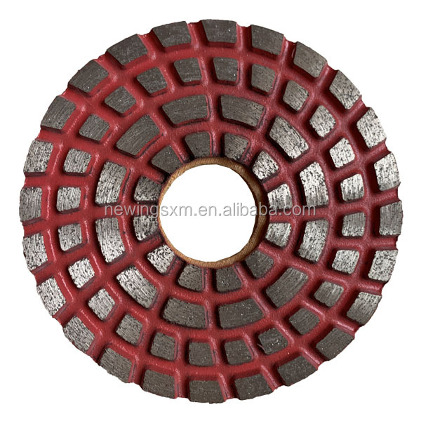 100mm Metal grinding pad diamond polishing tool for granite marble concrete