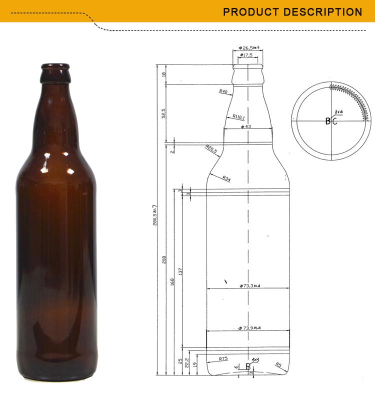 Standard 650ml Glass Beer Bottle Size View Standard Beer