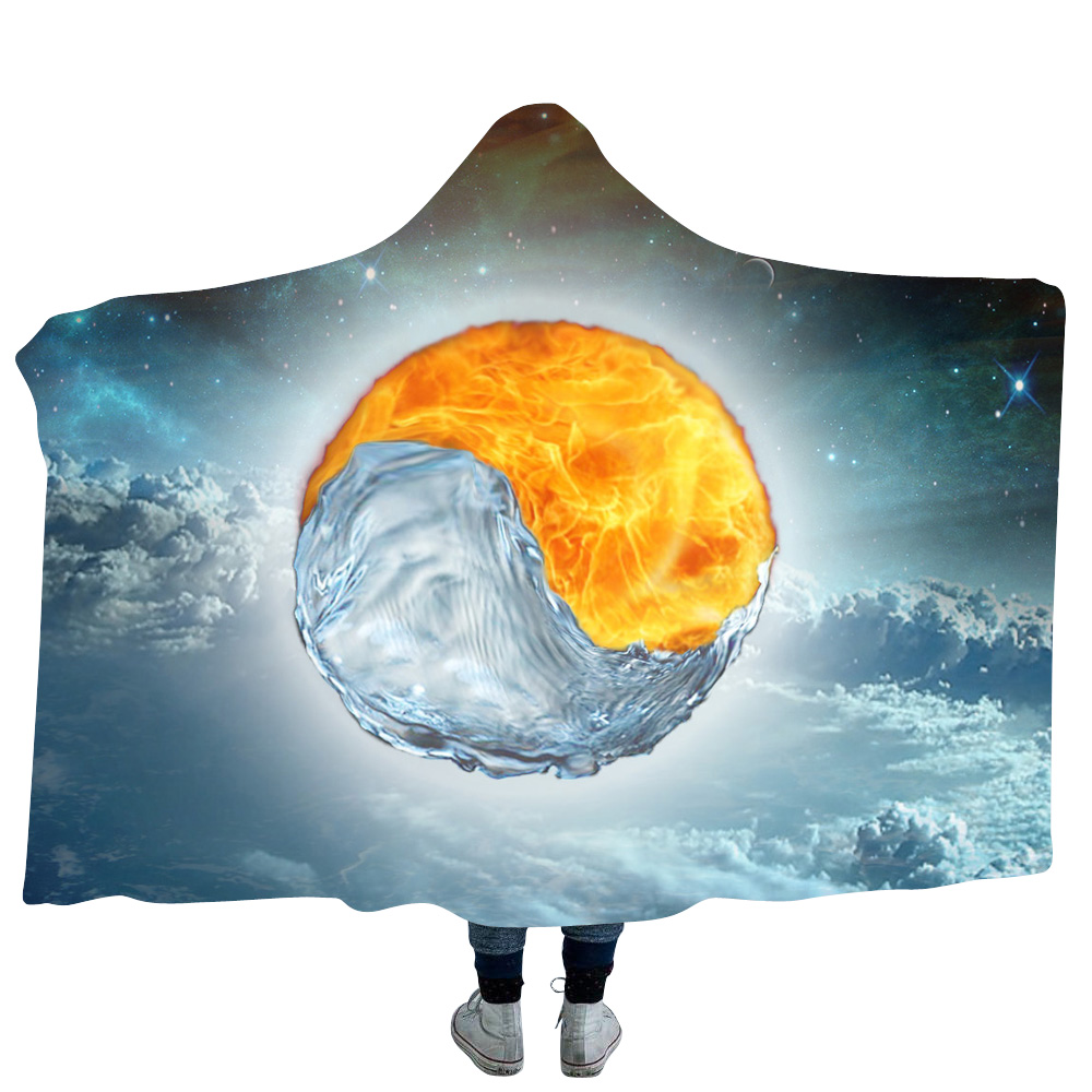 Religious Beliefs beach Cape Hooded Personalized Printing Customization Waterproof Hooded Stadium Poncho Blanket