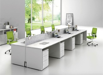 Modern Office Workstation Layout DesignAluminum Partition