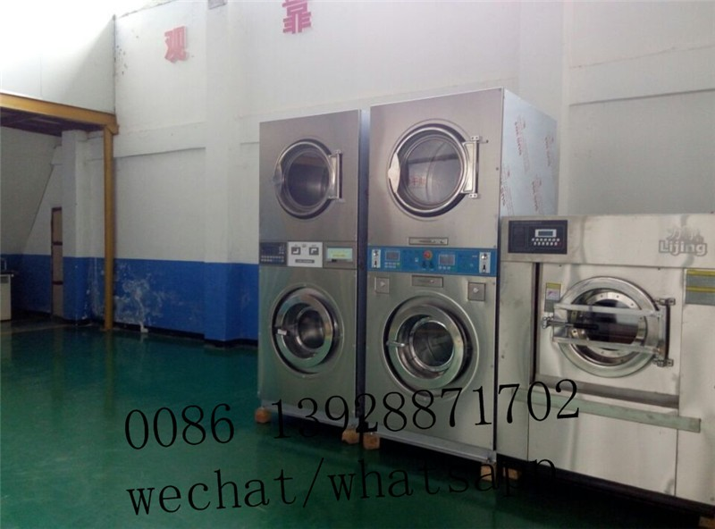 Industrial Coin Operated Stack Washer Dryer Commercial