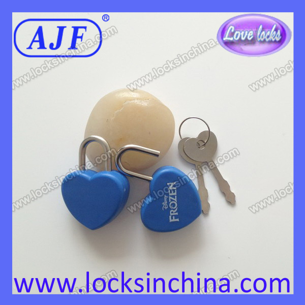 AJF Personalized Hot-selling plastic Folder lock small diary heart lock