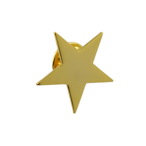 Cheap Custom metal gold plated star pin without enamel
