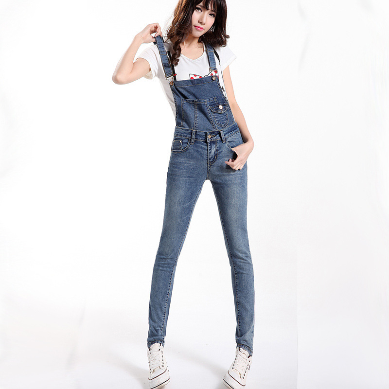 Spring 2014 jumpsuits overall women long skinny jean ...