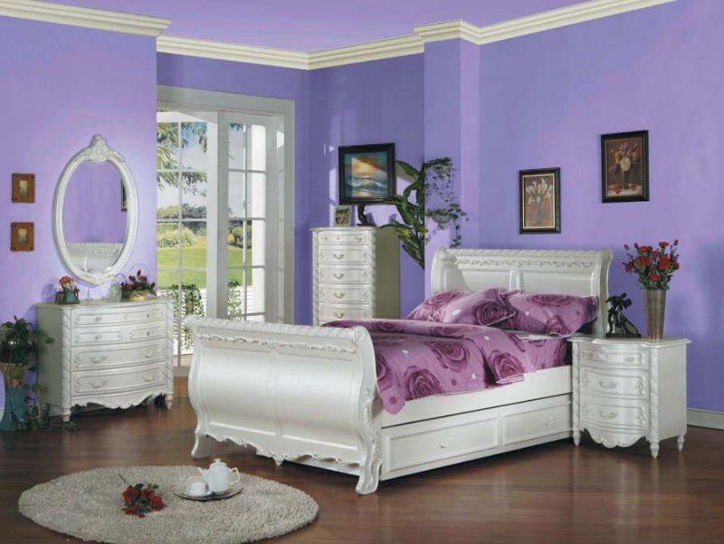 Green Teenage Girls Bedroom Ideas With White Storage Bedroom