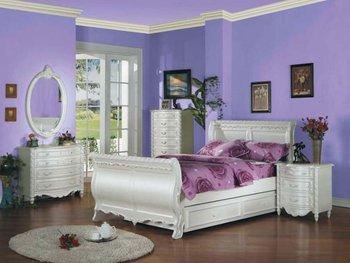 acme 1010 tset pearl white meisje jeugd jongen tiener tweeling slee slaapkamer meubilair sets